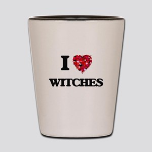 I love Witches Shot Glass